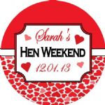 Personalised Hen Night Sticker Design 9